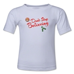 FC Santa Claus Don't Stop Believing Toddler T-Shirt (White)
