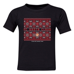 FC Santa Claus Christmas Sweater Toddler T-Shirt (Black)