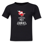 FC Santa Claus Milk and Cookies Toddler T-Shirt (Black)