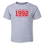 FC Santa Claus Established 1992 Toddler T-Shirt (Grey)