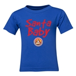 FC Santa Claus Santa Baby Toddler T-Shirt (Royal)