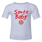 FC Santa Claus Santa Baby Toddler T-Shirt (White)