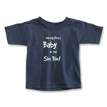 Nobody Puts Baby In the Sin Bin Toddler T-Shirt (Navy)