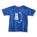 Eat. Nap. Rugby. REPEAT Toddler T-Shirt (Royal)