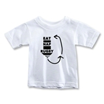 Eat. Nap. Rugby. REPEAT Toddler T-Shirt (White)
