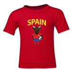 Spain Animal Mascot Toddler T-Shirt (Red)
