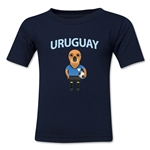 Uruguay Animal Mascot Toddler T-Shirt (Navy)