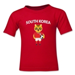 South Korea Animal Mascot Toddler T-Shirt (Red)