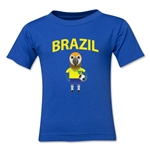 Brazil Animal Mascot Toddler T-Shirt (Royal)