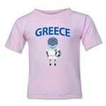 Greece Animal Mascot Toddler T-Shirt (Pink)