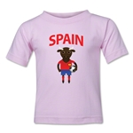 Spain Animal Mascot Toddler T-Shirt (Pink)