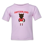 Switzerland Animal Mascot Toddler T-Shirt (Pink)
