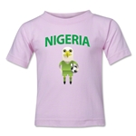 Nigeria Animal Mascot Toddler T-Shirt (Pink)