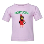 Portugal Animal Mascot Toddler T-Shirt (Pink)
