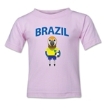 Brazil Animal Mascot Toddler T-Shirt (Pink)