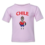 Chile Animal Mascot Toddler T-Shirt (Pink)