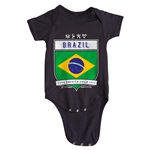 Brazil Copa America 2015 Shield Infant Onesie (Black)