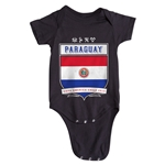 Paraguay Copa America 2015 Shield Infant Onesie (Black)