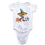 1986 FIFA World Cup Pique Mascot Logo Onesie (White)