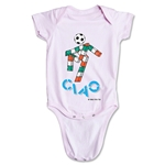 1990 FIFA World Cup Ciao Mascot Logo Onesie (Pink)