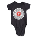 1954 FIFA World Cup Emblem Onesie (Black)