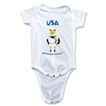 USA 2014 FIFA World Cup Brazil(TM) Mascot Onesie (White)