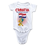 Croatia 2014 FIFA World Cup Brazil(TM) Mascot Flag Onesie (White)