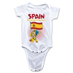 Spain 2014 FIFA World Cup Brazil(TM) Mascot Flag Onesie (White)