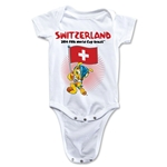 Switzerland 2014 FIFA World Cup Brazil(TM) Mascot Flag Onesie (White)