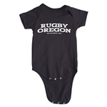 Rugby Oregon Onesie (Black)