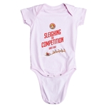 FC Santa Claus Sleighing the Competition Infant Onesie (Pink)