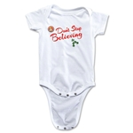 FC Santa Claus Don't Stop Believing Infant Onesie (White)