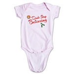 FC Santa Claus Don't Stop Believing Infant Onesie (Pink)