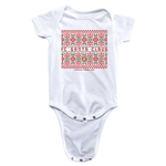 FC Santa Claus Christmas Sweater Infant Onesie (White)