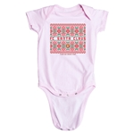 FC Santa Claus Christmas Sweater Infant Onesie (Pink)