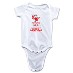 FC Santa Claus Milk and Cookies Infant Onesie (White)