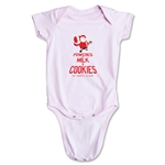 FC Santa Claus Milk and Cookies Infant Onesie (Pink)