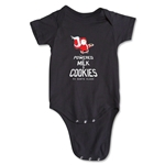 FC Santa Claus Milk and Cookies Infant Onesie (Black)