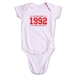 FC Santa Claus Established 1992 Infant Onesie (Pink)
