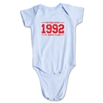 FC Santa Claus Established 1992 Infant Onesie (Sky)