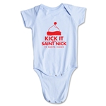 FC Santa Claus Kick with St. Nick Infant Onesie (Sky)