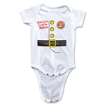 FC Santa Claus Santa's Little Helper Infant Onesie (White)