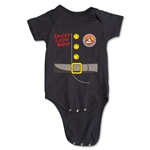 FC Santa Claus Santa's Little Helper Infant Onesie (Black)