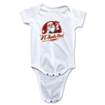 FC Santa Claus Animated Santa Infant Onesie (White)