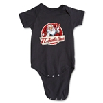 FC Santa Claus Animated Santa Infant Onesie (Black)
