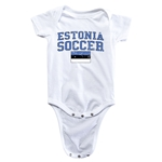 Estonia Soccer Onesie (White)