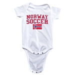 Norway Soccer Onesie (White)