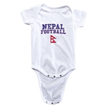 Nepal Football Onesie (White)