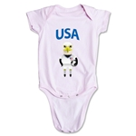 USA Animal Mascot Onesie (Pink)