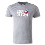 USA Rugby Logo T-Shirt (Gray)